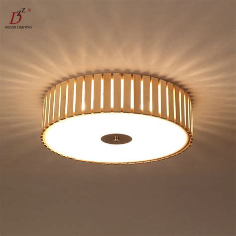 wood ceiling light modern rond wood ceiling l bedroom light home