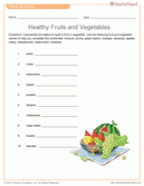 fruit unscramble healthy vegetables and fruits word scramble