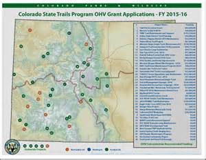 grant colorado map colorado parks wildlife ohv grant submissions