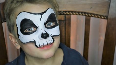 easy skull face painting makeup youtube