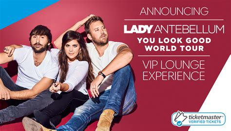 Vip Ticket Giveaway Company - lady antebellum vip lounge experience giveaway youlookgoodentry ticketmaster