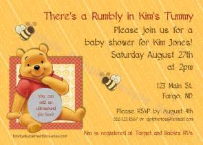 winnie the pooh baby shower invitations templates invitations templates