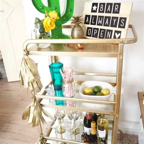 sunnersta hack ikea hack diy bar cart drinks trolley dove cottage