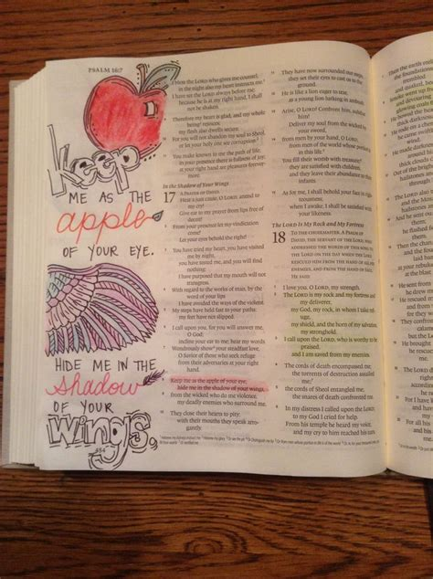 239 best images about bible journaling psalms on bible journaling psalm 17 8 kgjones5 faith art bible