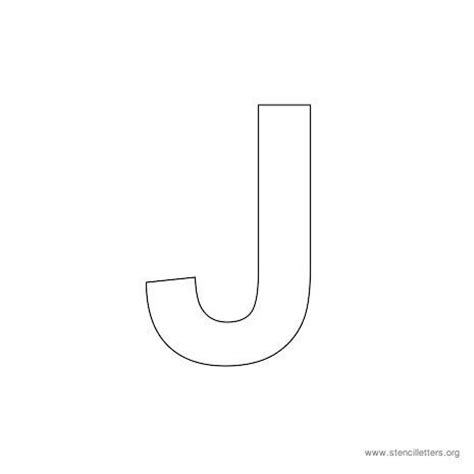 printable letter j stencil uppercase arial stencil letter j arts and crafts