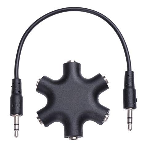 6 Way Ports To 5 Audio Earphone 3 5mm Splitter Adap 3 5mm earphone headphone audio splitter port adapter cables ipod iphone mp3 us
