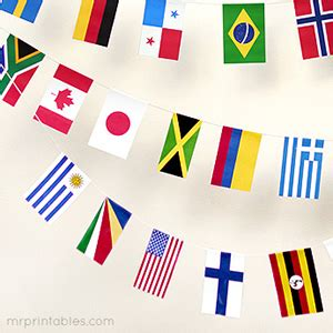 printable flags of the world bunting printable world flags mr printables