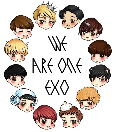 exo cartoon iphone wallpaper exo we are one by luhans love on deviantart