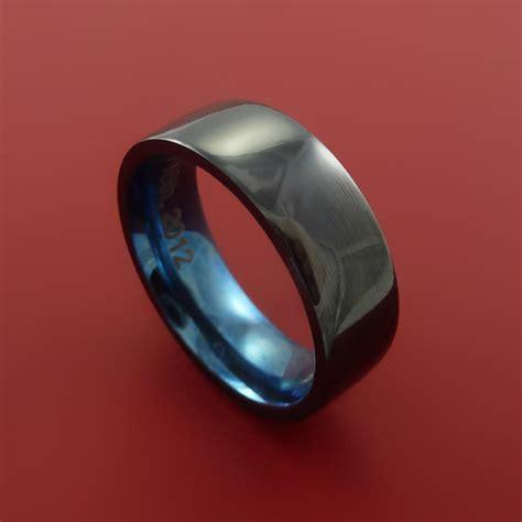 black zirconium black zirconium ring traditional style band by