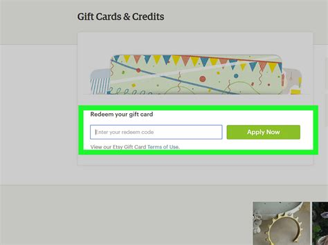 redeem waldenbooks gift card how to redeem an etsy gift card 3 steps with pictures