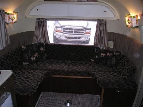 airstream couch 10 best images about airstream wrap around seating on