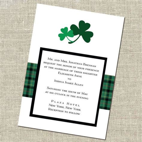 wedding invitations richmond indiana shamrock wedding invitation meghan and kyle weddings wedding