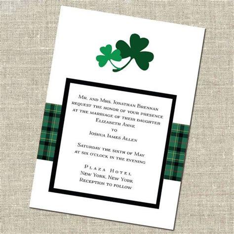 shamrock wedding invitation meghan and kyle