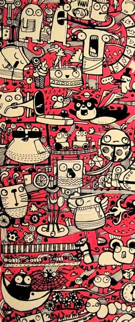wallpaper doodle pink cute monster doodle wallpaper