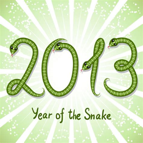 new year 2013 snake element shiny green13 snake year design elements free vector in
