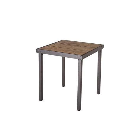 Home Styles 28 In Black And Tan Round Tile Top Patio Bistro Table Patio