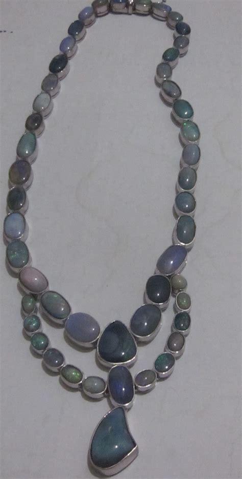 Handmade Jewelry Australia - graham australian handmade opal necklace