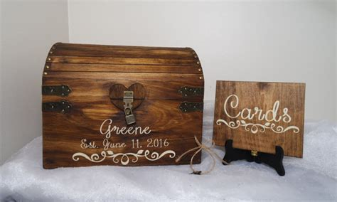 Wedding Card Chest by Rustic Wooden Wedding Card Chest With Card Slot