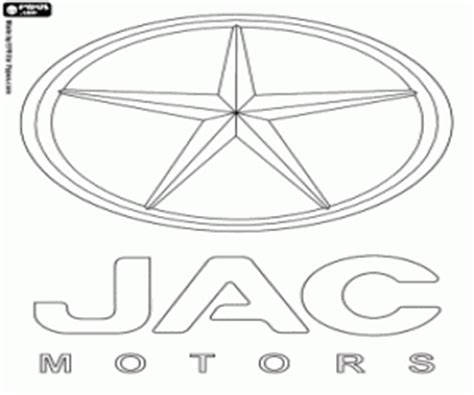 Logo Auto Jac by Car Brands Coloring Pages Printable 4