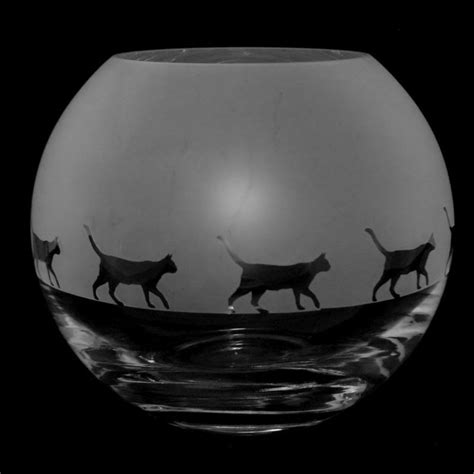 glass globe vase walking cat small glass globe vase animo glass