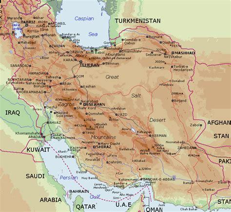 map in iran map of iran free printable maps
