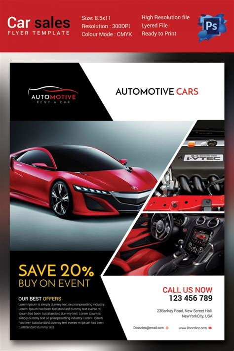 car flyer template flyers for car dealership flyers www gooflyers