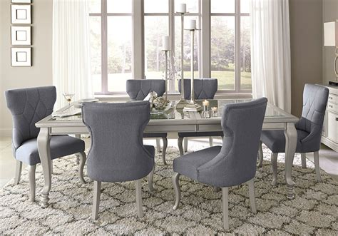 overstock dining room sets coralayne dining set with 6 side chairs local overstock