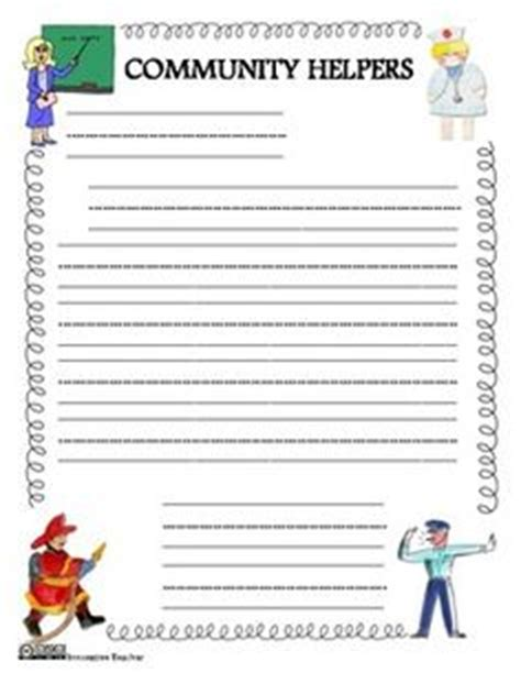 firefighter writing paper 1000 images about community helpers on