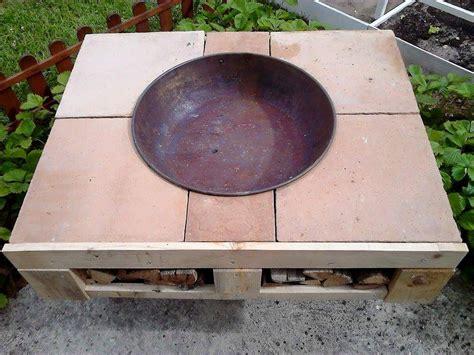 pallet wooden patio fire bit pallet ideas