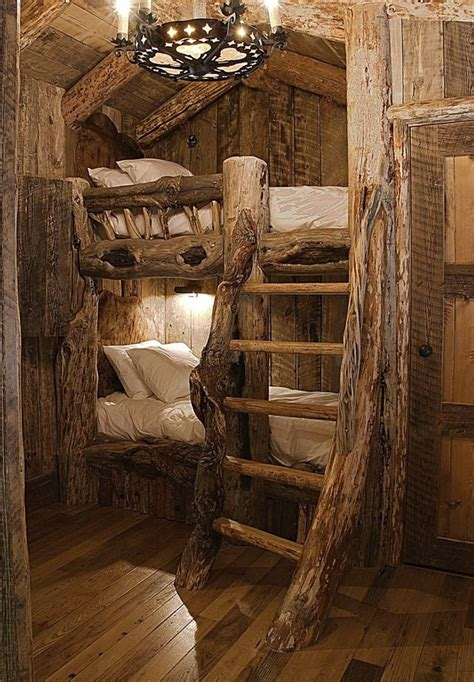 log cabin bed log cabin bunk beds tree houses i want pinterest