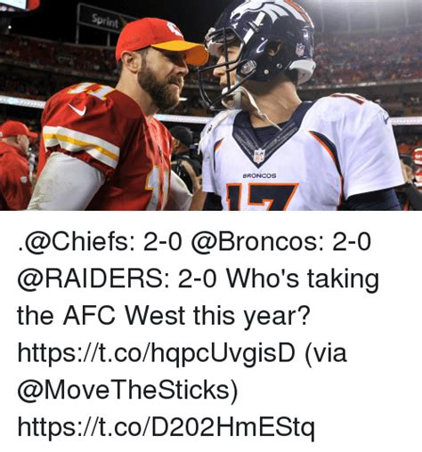 Broncos Chiefs Meme - sprint tch nfl broncos 2 0 2 0 2 0 who s taking the afc