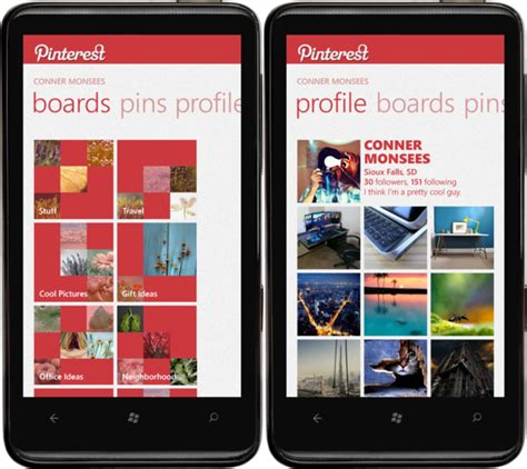pinterest app layout 50 epic metro style design