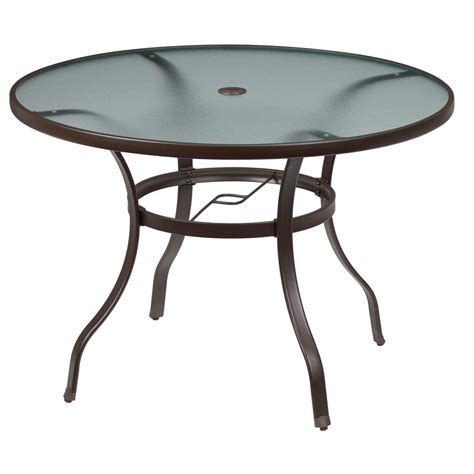 Marvellous Hton Bay Mix And Match Round Metal Outdoor Metal Patio Table