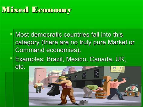 exle of market economy economic systems