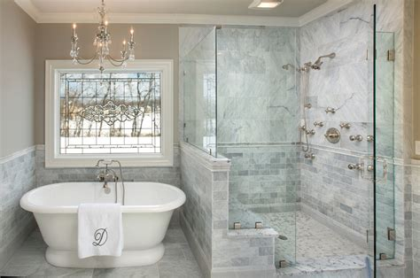 leaded glass windows bathroom traditional with chair rail