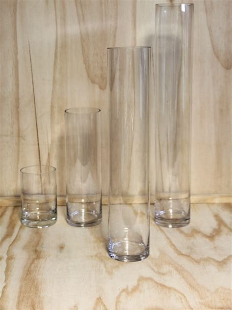 Glass Cylinder Vase  Tall   Wedding Hire   Envy Events