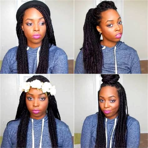 how to style box braids and twists locs 24 styles youtube