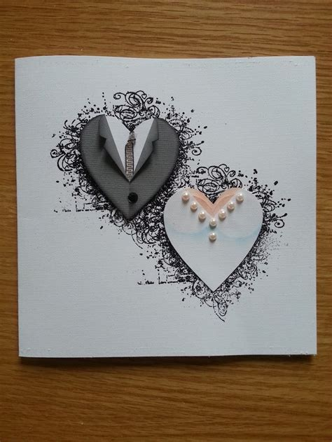 Handmade Paper Wedding Cards - handmade wedding card from lotta 180 s paper piecing