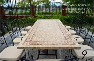 78 quot outdoor patio dining table italian mosaic stone marble