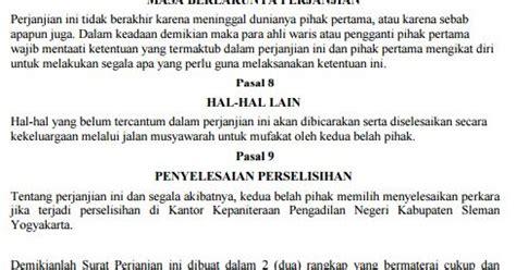 Syari Pasal Dua 2 contoh pasal ayat peraturan jual beli tanah bangunan hak milik undang undang