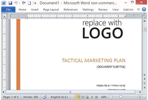 free marketing plan template microsoft word free marketing strategy template for word