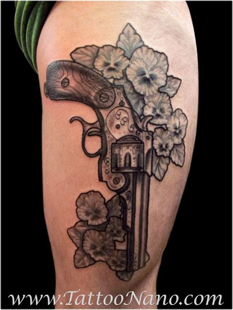 badass tattoo ideas 35 awesome gun designs tatting and piercings