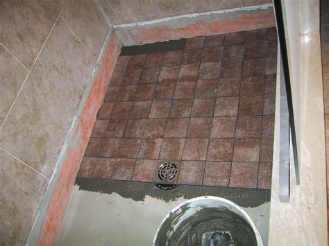 How To Tile A Bathroom Floor by How To Tile A Shower
