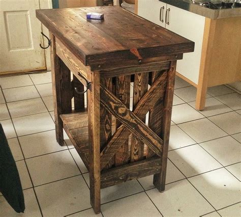 kitchen island    reclaimed pallets reclaimed