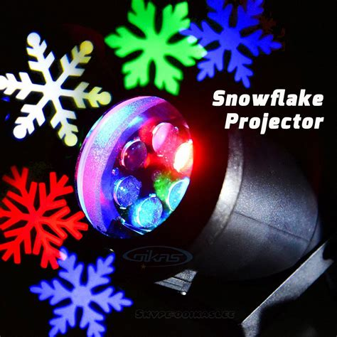 blue and white laser lights outdoor light led snowflake projector white