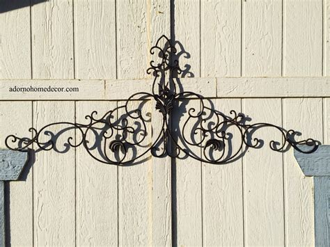 rod iron decorations wall large tuscan wrought iron metal wall decor rustic antique