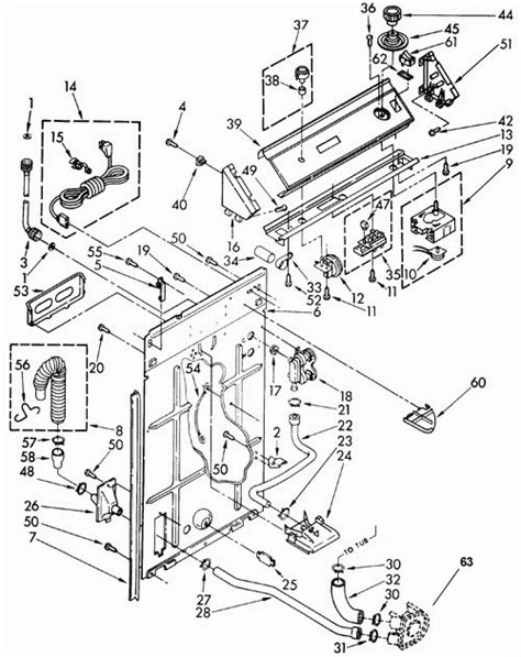 kenmore 500 washer parts diagram kenmore 80 series washer parts diagram wiring diagram