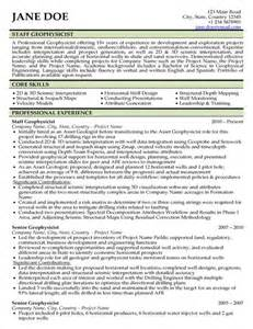 geologist resume sle college resume and