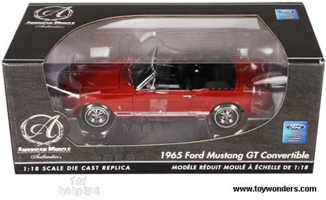 Ertl Authentics American 1965 Ford Mustang Gt 2 2 Fastback 1965 ford mustang gt convertible by rc2 ertl authentics 1 18 scale diecast model car wholesale