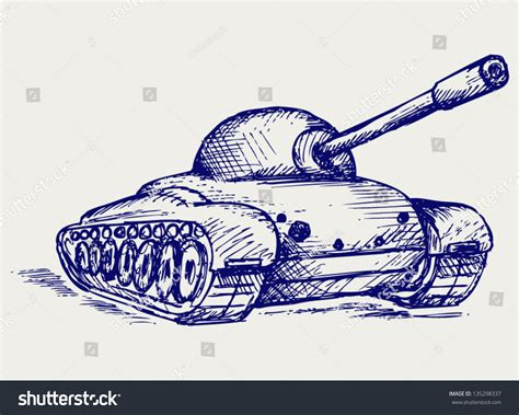 how to do the tank on doodle fit battle tank doodle style stock vector illustration